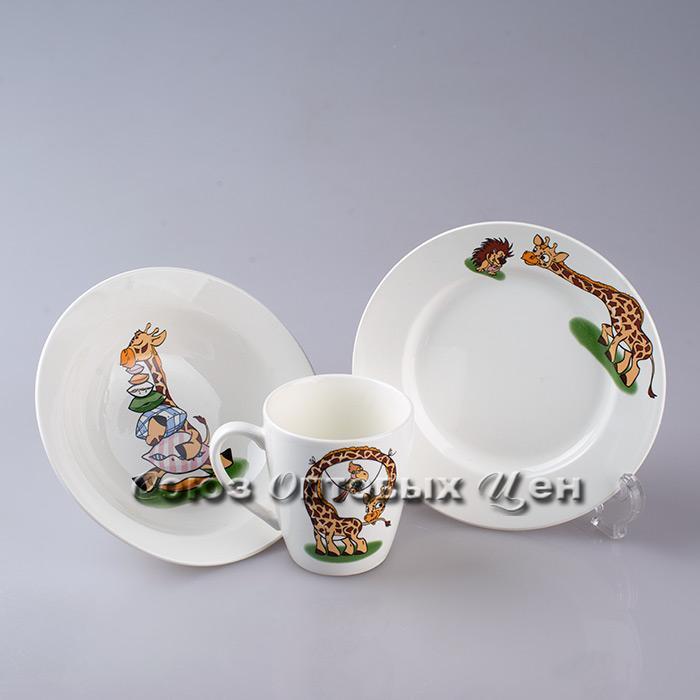 Набор посуды 3 пр Жираф гр.8