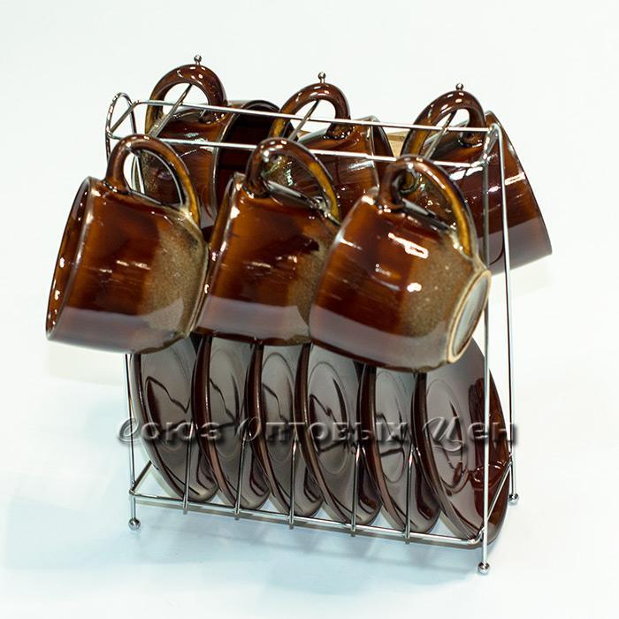 набор керам чайный 12 пр на метал подставке-1 СБТ