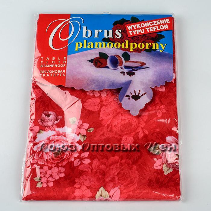 скатерть полиэстер рисунок цветы 140*220 H-3