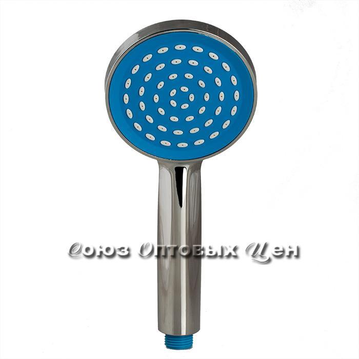 лейка для душа 40011-1 хром-синий (200 шт)