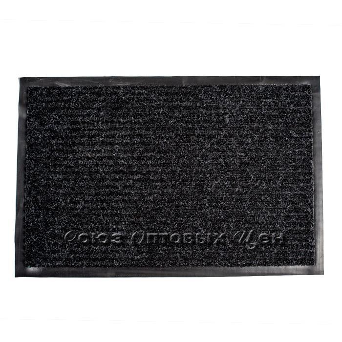 коврик придверный влаговпитывающий 38*58 черный