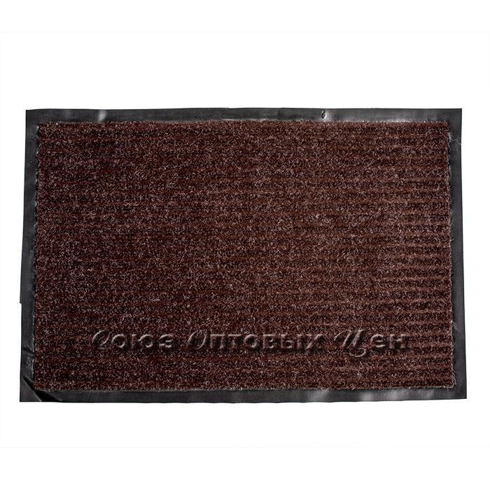 коврик придверный влаговпитывающий 48*78 корич.
