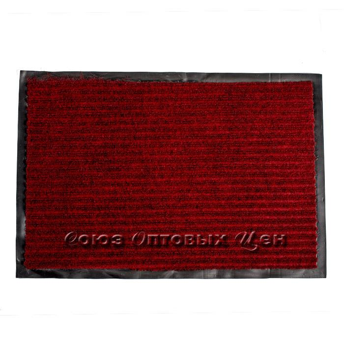 коврик придверный влаговпитывающий 48*78 бордо