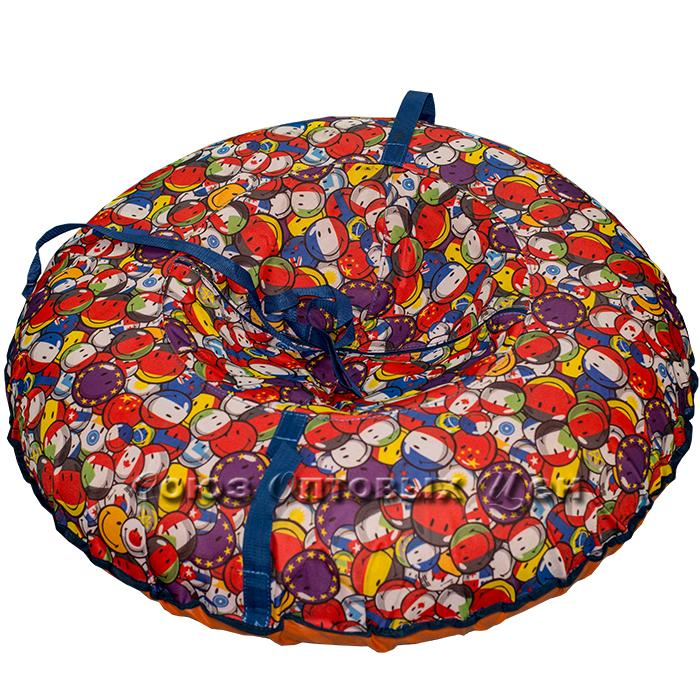 "Санки-ватрушка ""Brilliant maxi""  диаметр 100 см (R-15/16, 100 кг) (верх ОКСФОРД , низ ТЕНТ)"