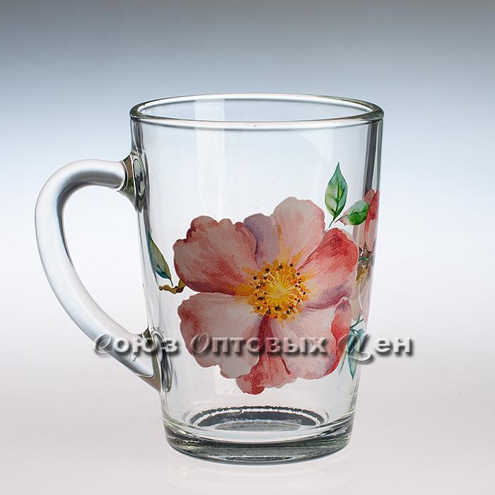 кружка Капучино 07с1334 Акварельные цветы 300 мл уп/20