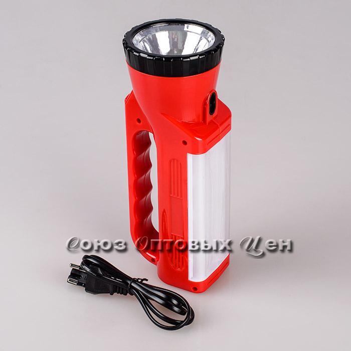 фонарь  светодиодный на аккумуляторе 1лампа пластм 7130