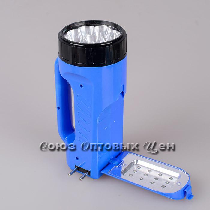 фонарь  светодиодный на аккумуляторе 12+9ламп пластм 203