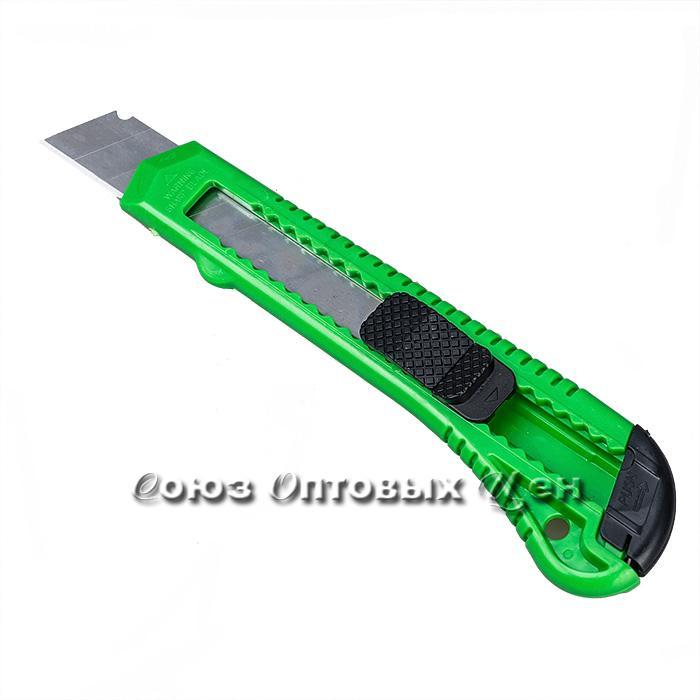 Нож канцелярский 18мм пласт.уп12шт