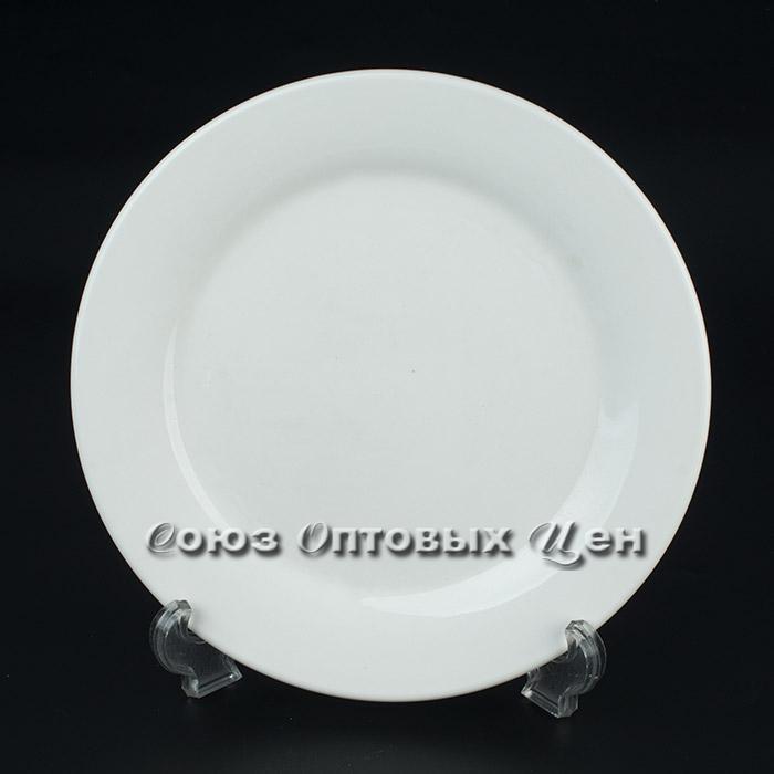 "тарелка плоская 9"", (22.5см) Бел фарфор D-32 уп 12"