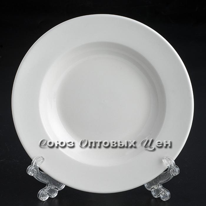 "тарелка суповая п/порц фарфор 8"" бел ( 20см) D-29 уп 12"