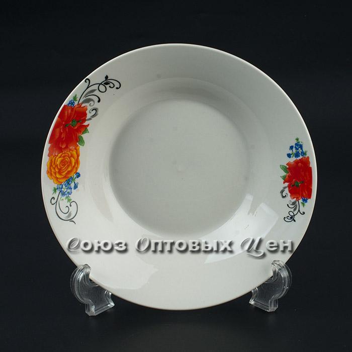 """тарелка суповая п/порц фарфор 8"""" D-21 уп 12"""