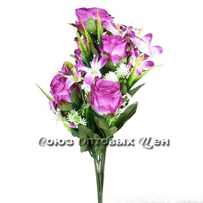 Цветы искусственный букет S-1205-8 (50 см, 20 головок)