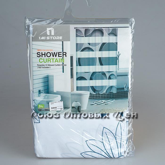 штора в ванну 180*180 полиэстер, цветы