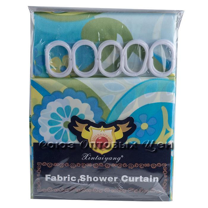 штора в ванну 180*180 полиэстер, цветы,бабочки
