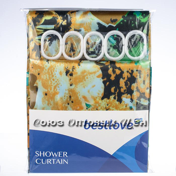 штора в ванну 180*180 полиэстер, яркие цветы