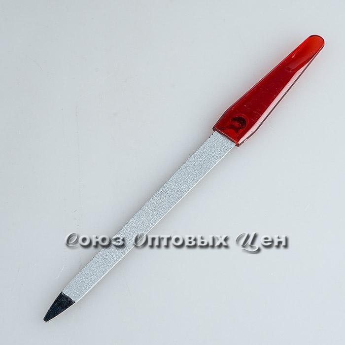 Пилочка для ногтей 17,3см, в чехле, мет+пласт /1/12/1200/