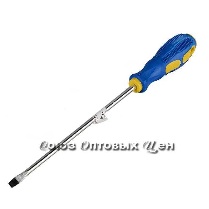отвертка резин. ручка магнитная 8*200мм.- уп12