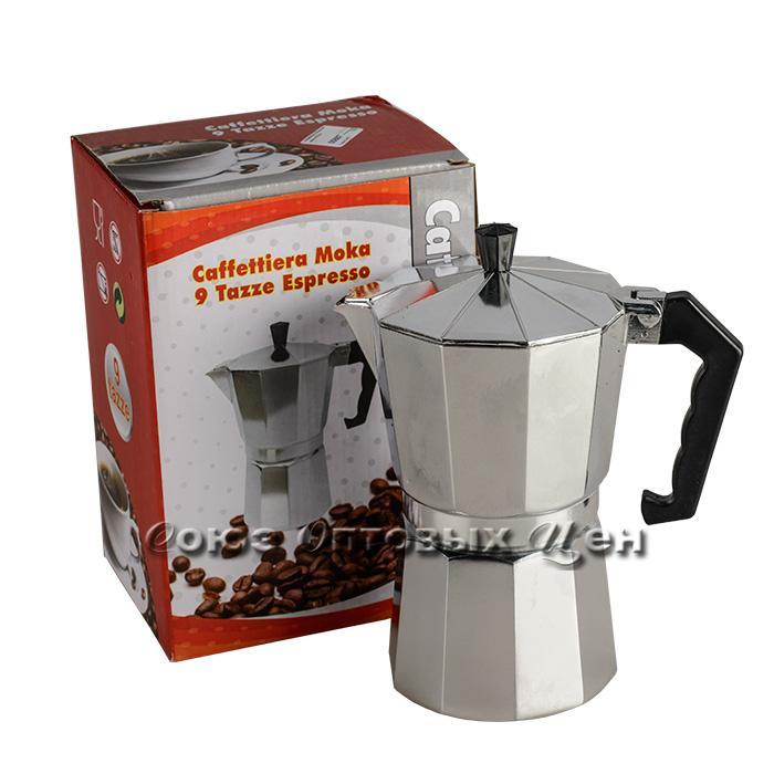 кофеварка гейзерная алюм 450мл 9 чашек