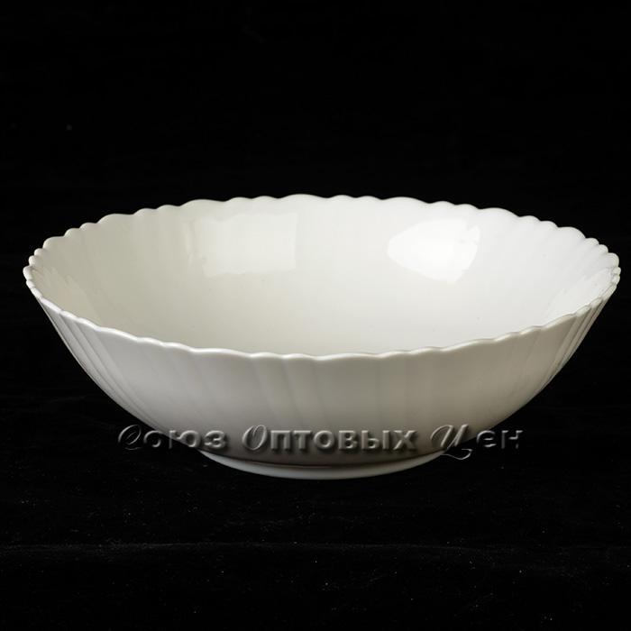 """тарелка стеклокерамика обеденная  7,5"""" Белый В4 уп/12"""