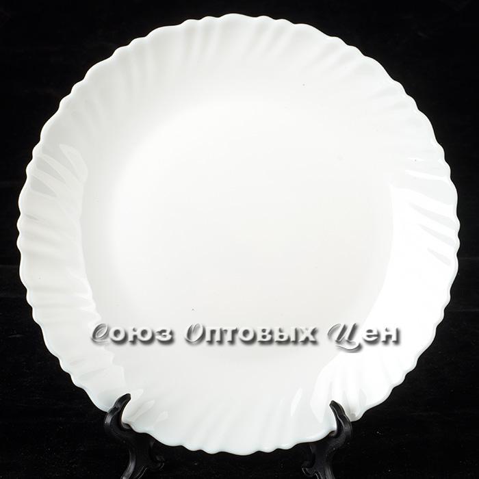 """тарелка стеклокерамика обеденная  10"""" d25 Роза  F5 уп/6"""