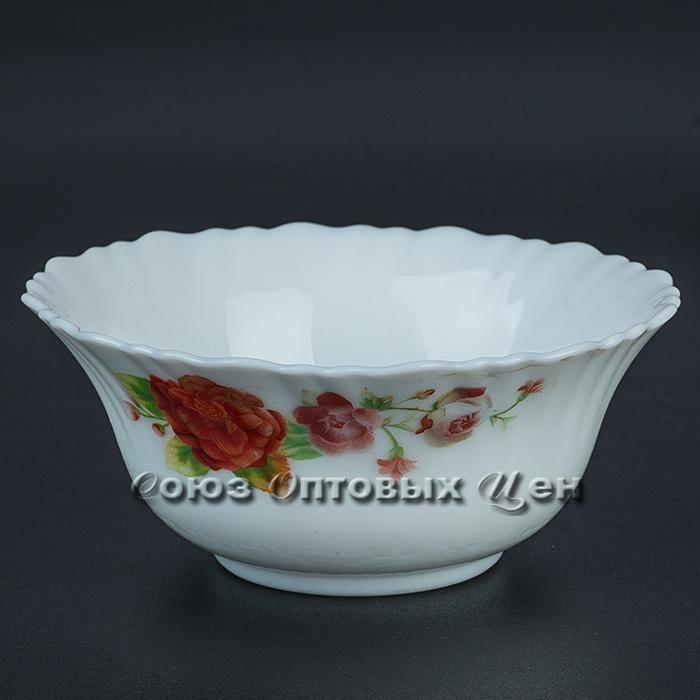 "салатник стеклокерамика 5"" (d12 h6) Красный пион H1 уп/6"