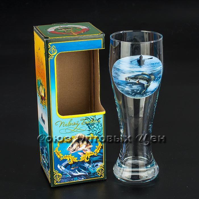 Бокал для пива Рыбалка 500мл арт.303-Д В6-2