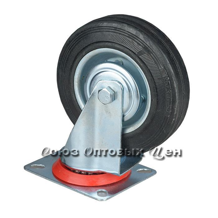 Колесо для тележки 120*35мм, высота 150мм, поворотное на платформе, S1207-11