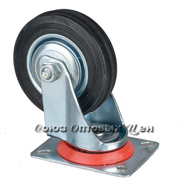 Колесо для тележки 95*25мм, высота 130мм, поворотное на платформе, S1207-10
