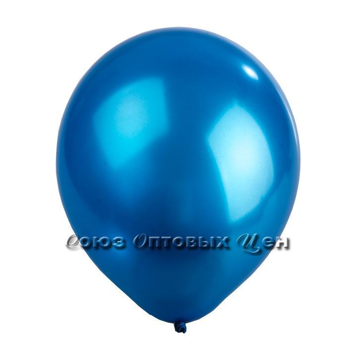 шары 10шт перламутр синий