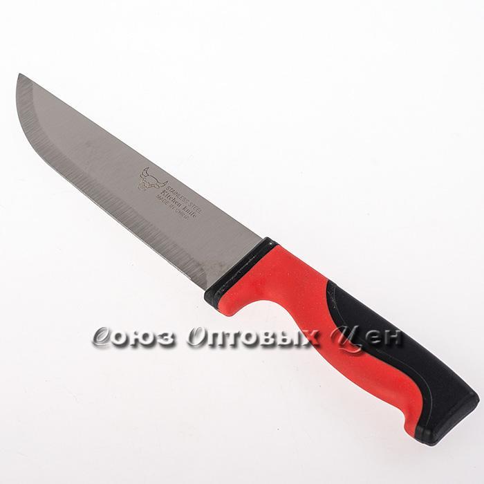 """нож кухонный резиновая ручка 7"""" 407 91608 уп/12"""