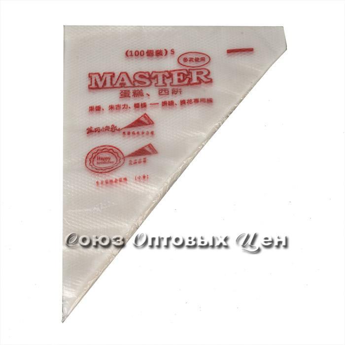 мешок кондитерский полиэтилен 31*21 пачка100шт S-757-7