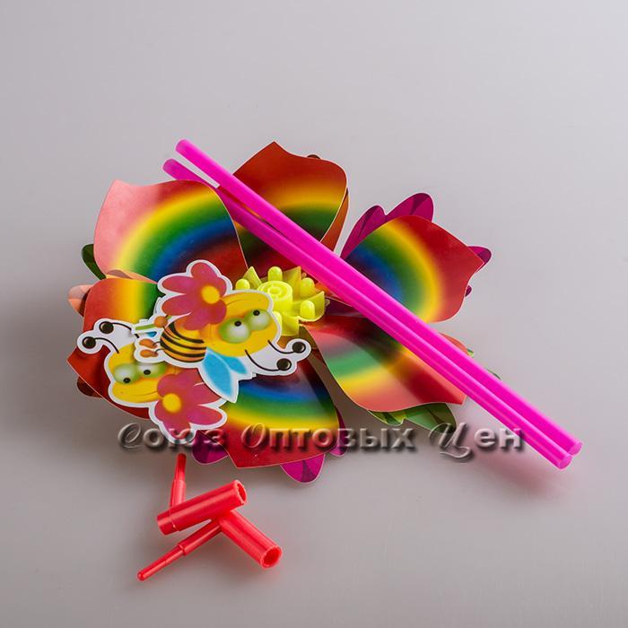игрушка ветерок на палочке пластм уп2шт №33