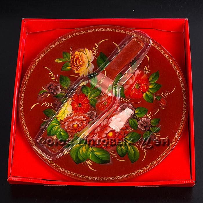набор для торта стекло 2пр d 30 S3012/2PDQ -T090-2 (В12-1)