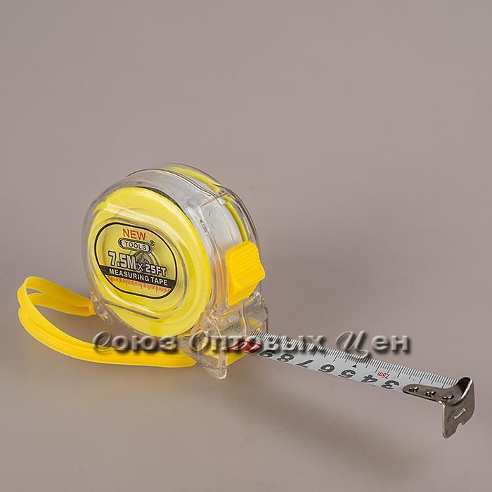 рулетка DOMINA 7,5м антиударная
