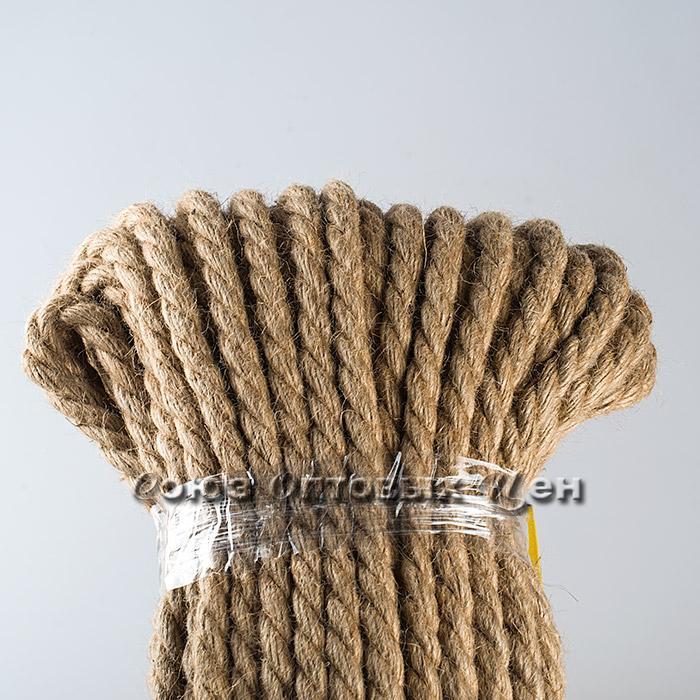 Веревка джутовая д 6 мм, 50 м
