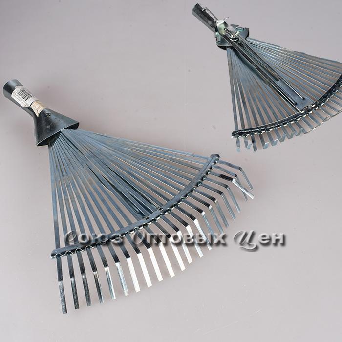 грабли веер без черенка метал с регулятором 22зуба №28