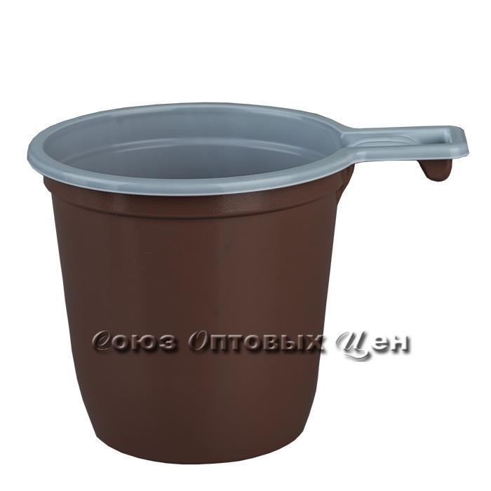 чашка коф.200 мл. Стандарт бел/корич  50/1200 СОЦ