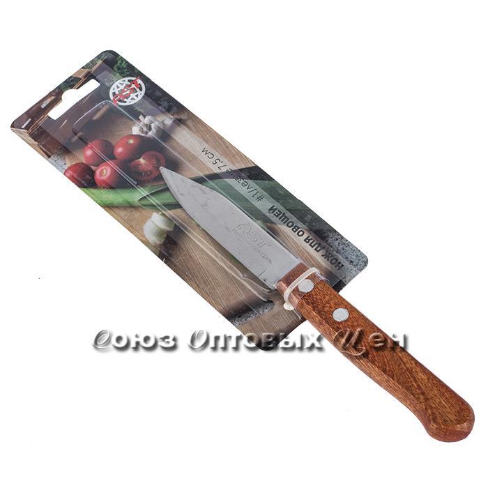 """нож кухон мет №1 д/овощей 3""""дер/руч  на блистере"""