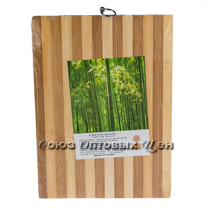 доска разделочная бамбук 18*28*1,3см полоска