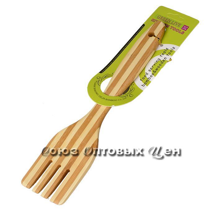 лопатка для приготовления  пищи бамбук 30см SUPER 4