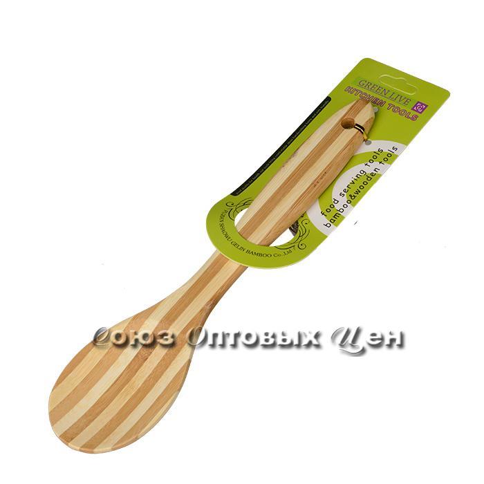 лопатка для приготовления  пищи бамбук 30см SUPER 2