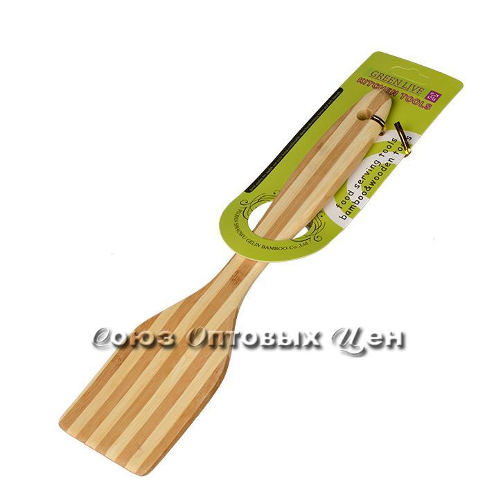 лопатка для приготовления  пищи бамбук 30см SUPER 1