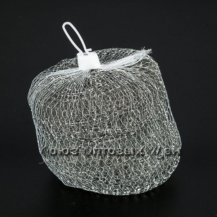 губка метал для посуды в сетке 5шт (13г)
