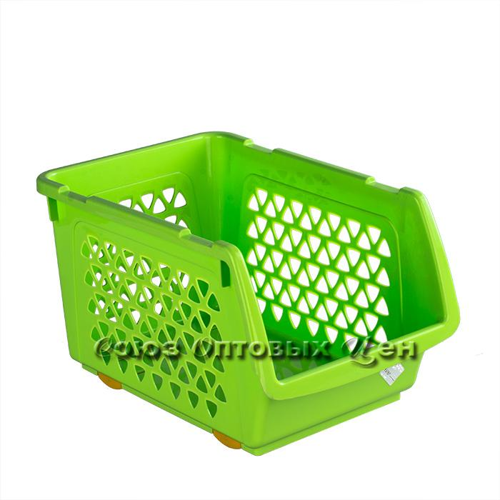 ящик пласт для овощей 10л  330*233*200  цвет МИКС (уп/11)