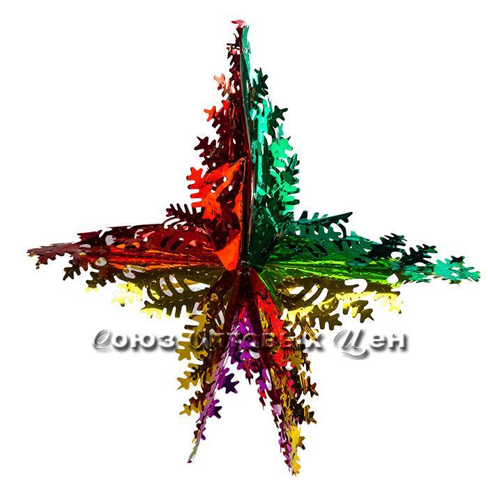 новогоднее украшение из фольги 1 уп 10шт S-625