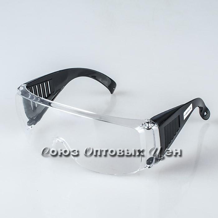 очки защитные прозрачные с дужками, для защиты от пыли,окалины, краски