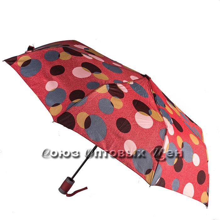зонт женский полуавтомат в горох S-13
