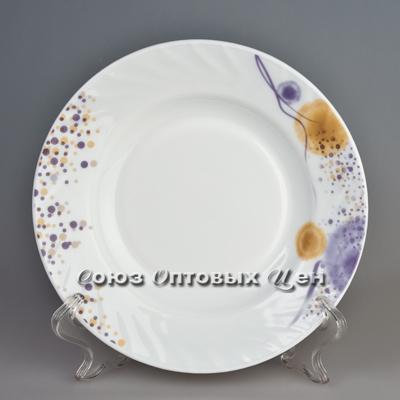 тарелка плоская стекло 10* цвет HP-100 950 уп/6