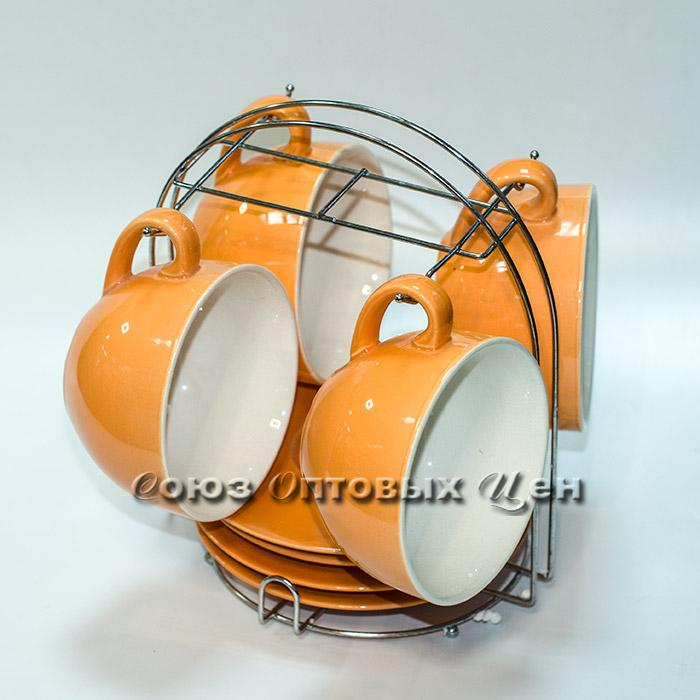 набор чайный керам на метал подставке  8 пр 0052-1