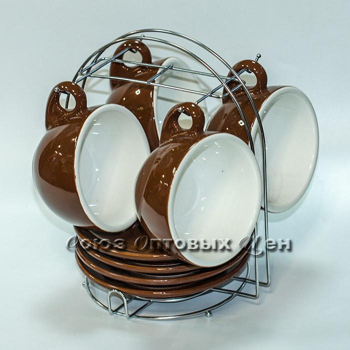 набор чайный керам на метал подставке 8 пр 0052-3